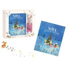 Coffret livre Le Noël de la Grande Famille + peluchette Sylvain - La Grande Famille - Moulin Roty