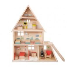 Maison de poupée avec mobilier La Grande Famille - Moulin Roty