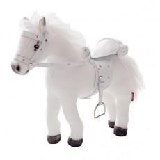 Cheval blanc, selle et harnais, avec bruit - Götz