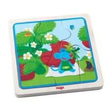 Puzzle en bois La souris aux fraises - Haba