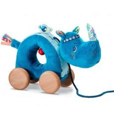 Marius, le rhinocéros câlin à tirer - Lilliputiens