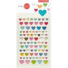 Stikers cœurs - Majolo
