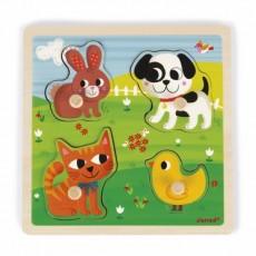 Puzzle Tactile Mes Premiers Animaux - Janod
