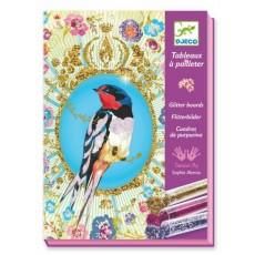 Tableau à pailleter - Oiseaux à paillettes - Djeco Design by