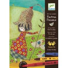 Atelier feutres pinceaux - Avec des fleurs - Djeco Design by