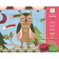 Atelier gouaches - Les animaux d'Akiko - Djeco Design by
