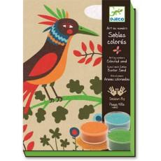Sables colorés - Oiseaux de paradis - Djeco Design by