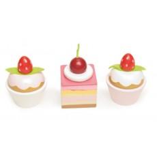 Petit Fours (set de 3 cakes) - Le Toy Van