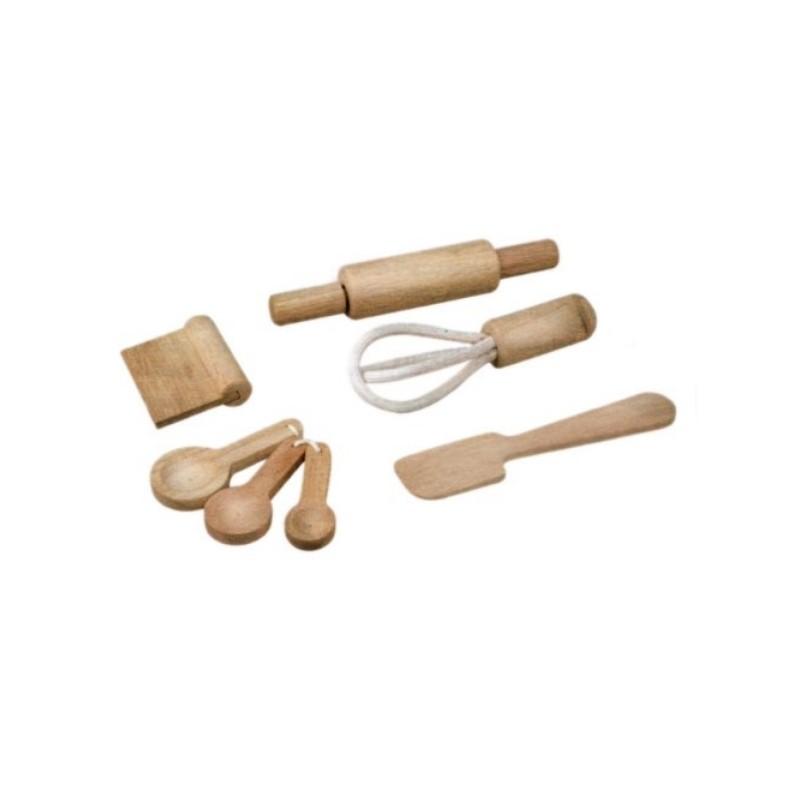 Set d 39 ustensiles de cuisine plan toys jouet de famille for Set ustensiles de cuisine