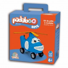 Kit de pâte à modeler Boys Hélicoptère - Padaboo - Téo & Zina