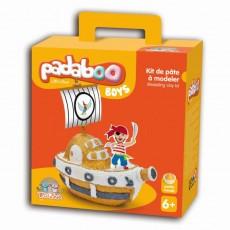 Kit de pâte à modeler Boys Bateau pirate - Padaboo - Téo & Zina