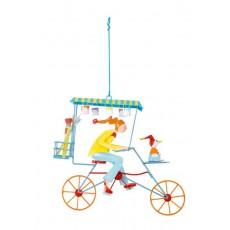 Mobile Triplette peintre jaune - Les Triplés & Triplettes - L'Oiseau Bateau