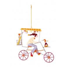 Mobile Triplette peintre beige - Les Triplés & Triplettes - L'Oiseau Bateau