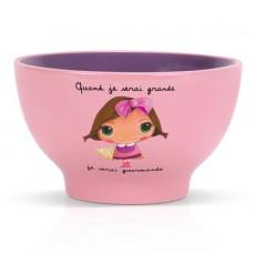 Bol céramique Gourmande - Quand je serai grand(e) par Isabelle Kessedjan