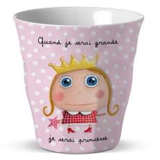 Verre mélamine Princesse - Quand je serai grand(e) par Isabelle Kessedjan