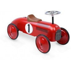 Porteur voiture métal vintage rouge - Vilac