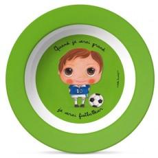 Assiette creuse Mélamine - Footballeur - Quand je serai grand