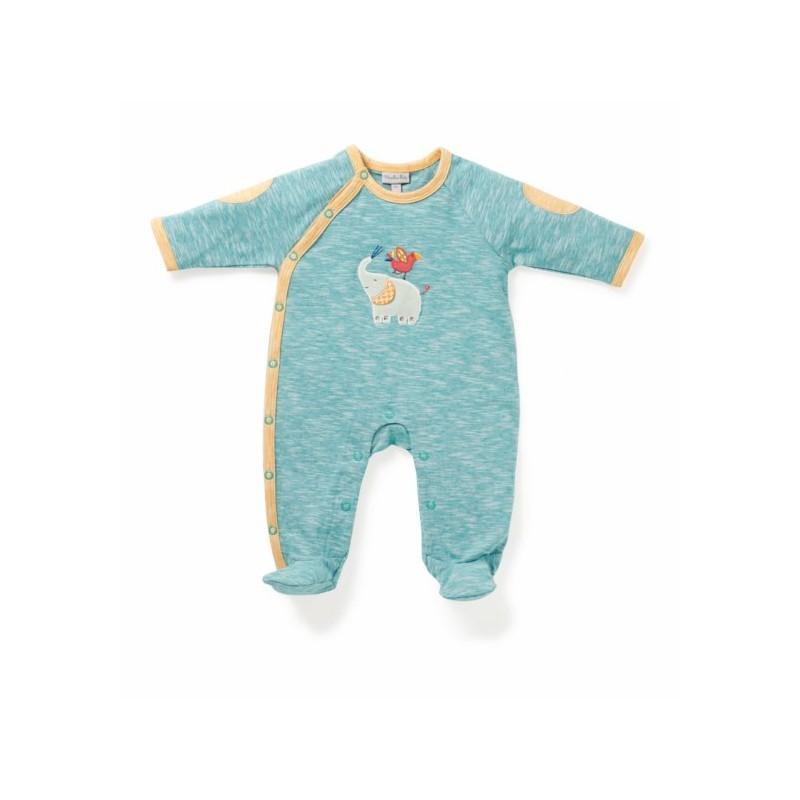 Pyjama t el phant bleu les papoum moulin roty jouet - Pyjama elephant ...