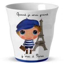 Verre mélamine Paris Graçon - Quand je serai grand(e) par Isabelle Kessedjan
