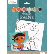 Toile à peindre Graffy Paint Chat pirate - Avenue Mandarine