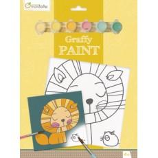Toile à peindre - Graffy Paint Lion - Avenue Mandarine