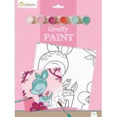Toile à peindre Graffy Paint Faon - Avenue Mandarine