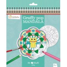 Bloc de coloriage Graffy Pop Mandala Animaux - Avenue Mandarine