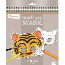 Masque à colorier Graffy Pop Mask Animaux - Avenue Mandarine