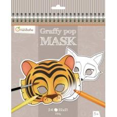 Masque à colorier Graffy Pop Mask Animaux - Avenue Mandarine