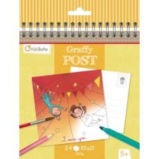 Bloc de cartes postales à colorier Graffy Post Fête Foraine Cirque - Avenue Mandarine