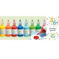 Le matériel des maternelles - 8 bouteilles de gouache - Djeco
