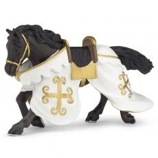 Figurine cheval du chevalier cotte de maille - Papo
