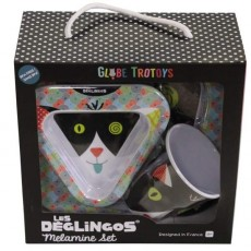 Coffret mélamine Charlos le chat - Les Déglingos