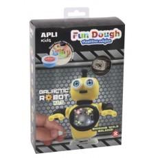 Kit Galactic Robot 'Fun Dough' jaune - APLI Kids
