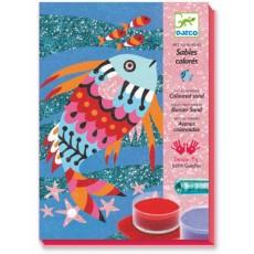 Sables colorés - Arc-en-ciel de poissons - Djeco