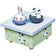 Boîte à Musique Bois Fille & Panda - Trousselier