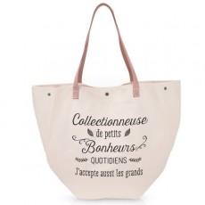 Grand sac shopping Collectionneuse de petits bonheurs quotidiens - Créa Bisontine