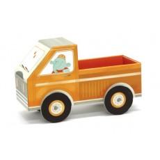 Camionnette à remorque 3D en carton à assembler - Krooom