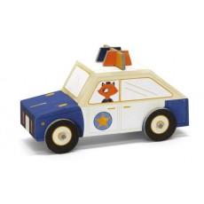Voiture de police 3D en carton à assembler - Krooom