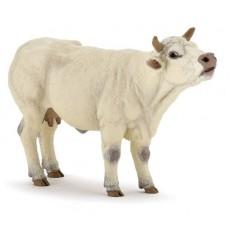 Figurine Vache charolaise meuglant - Papo