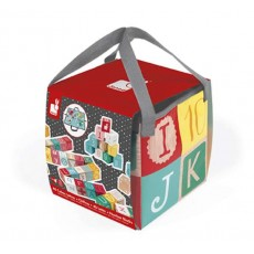 Kubix - 40 cubes lettres + chiffres - Janod