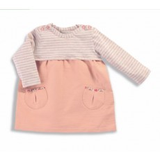 Nora Robe rose rayé gris/rose Les Petits Habits Tartempois hiver 2017 - Moulin Roty