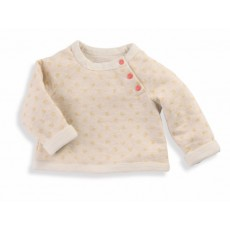 Nadia Sweat-shirt beige à pois Les Petits Habits Tartempois hiver 2017 - Moulin Roty