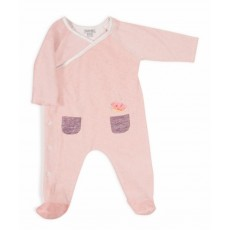 Neige Pyjama rose chiné Les Petits Habits Tartempois hiver 2017 - Moulin Roty