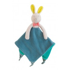 Doudou attache tétine lapin - Mademoiselle et Ribambelle -  Moulin Roty