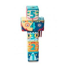 Set de 6 cubes Totem - Lilliputiens