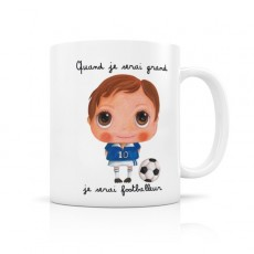 Mug céramique Footballeur - Quand je serai grand(e) par Isabelle Kessedjian
