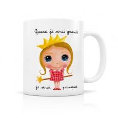 Mug céramique Princesse - Quand je serai grand(e) par Isabelle Kessedjian