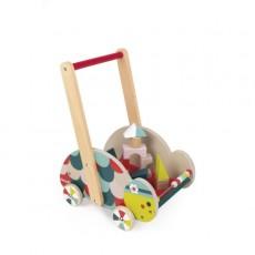 Chariot d'éveil Tortue avec 12 cubes - Baby Forest - Janod