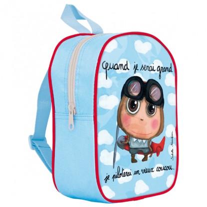 Petit sac à dos avec poches chevalier - Quand je serai grand Ktp2Dskw